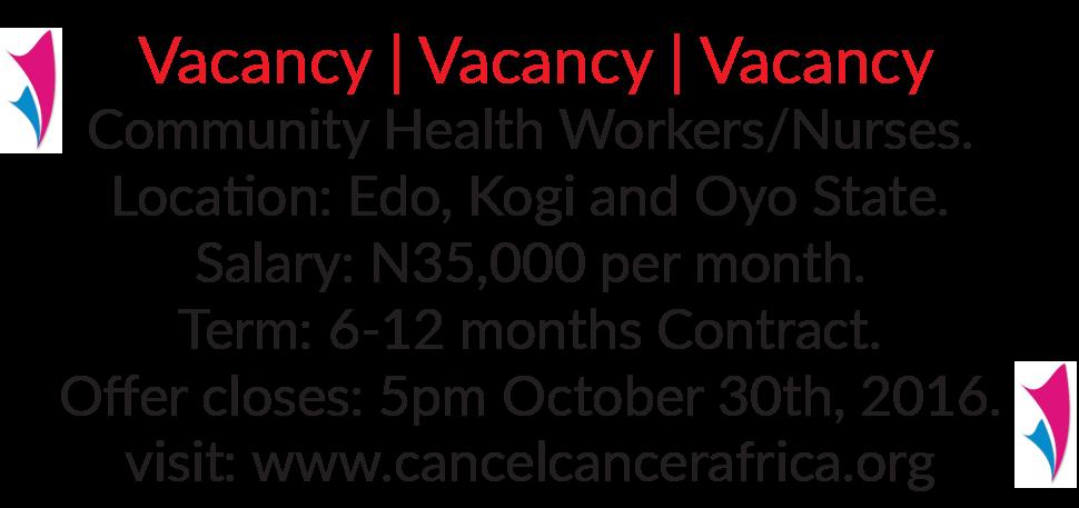health worker vacancy