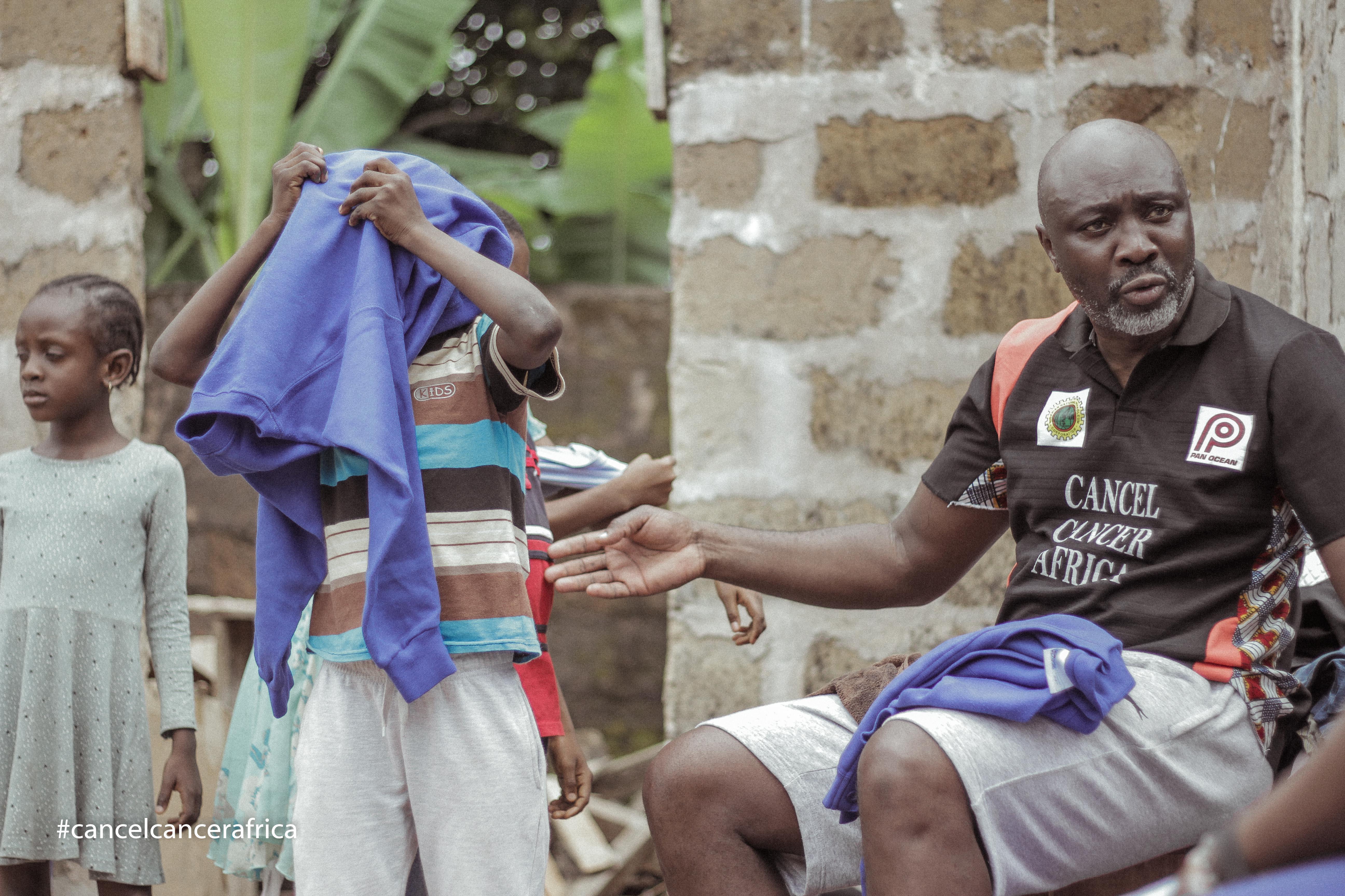 Cancel Cancer Africa celebrating with Kids in rural Nigeria (10