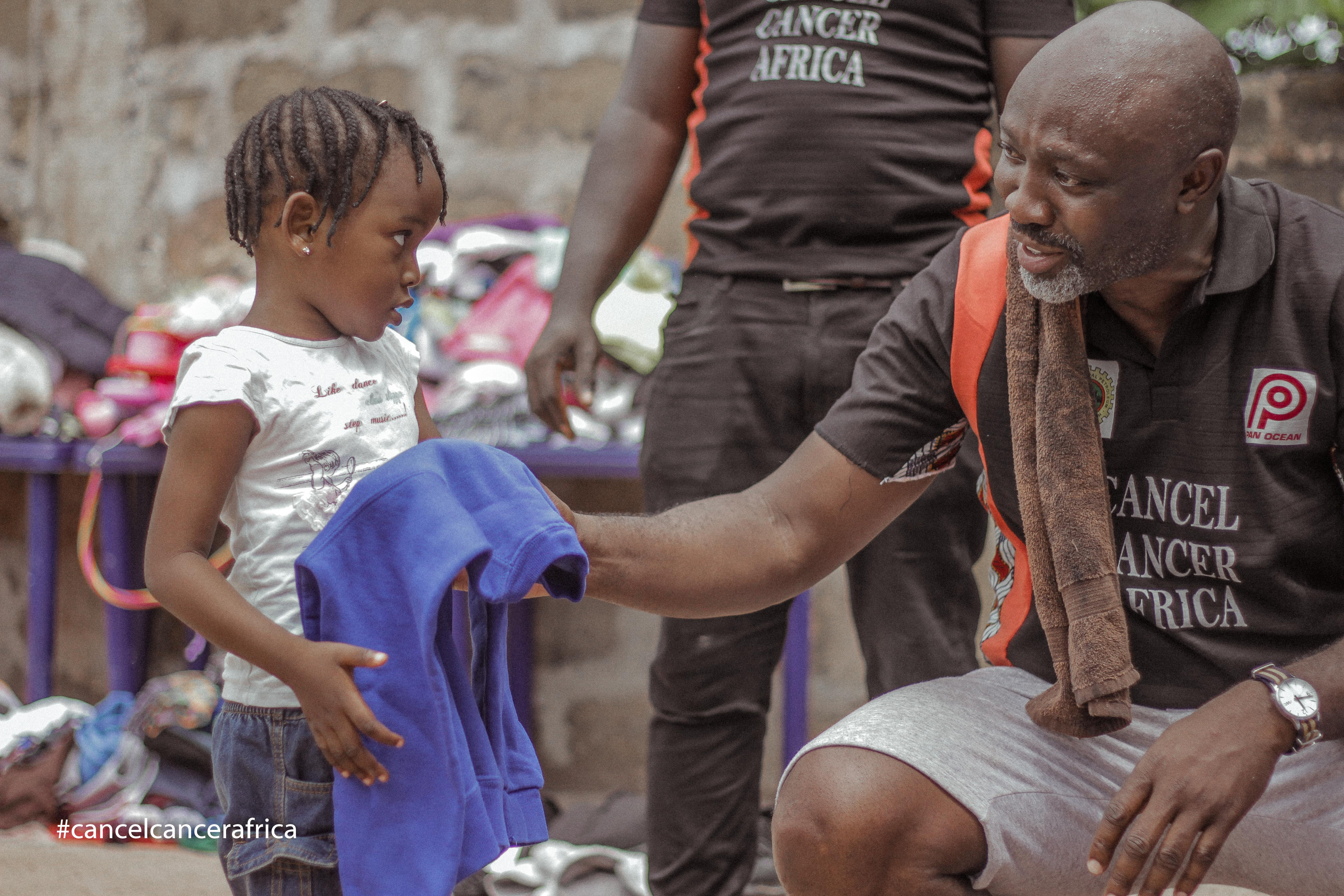 Sharing Gift items in rural Nigeria  - Cancel Cancer Africa